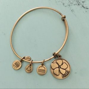 Alex and Ani Flower Friend bracelet.